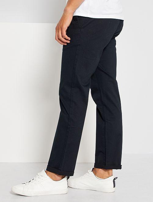 Pantalón chino regular L34 eco-concepción                                                                 negro