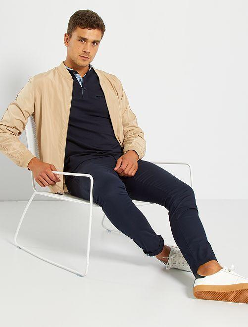 Pantalón chino skinny + cinturón                                                                 AZUL