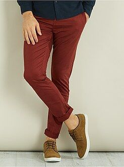 Pantalones - Pantalón chino skinny de sarga - Kiabi