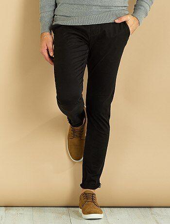 Pantalón chino skinny de sarga - Kiabi