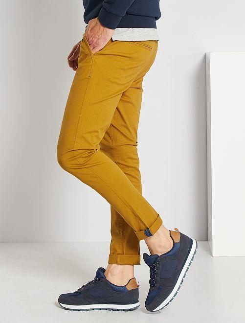 Pantalón chino skinny L30 eco-concepción                                                                                                                 AMARILLO