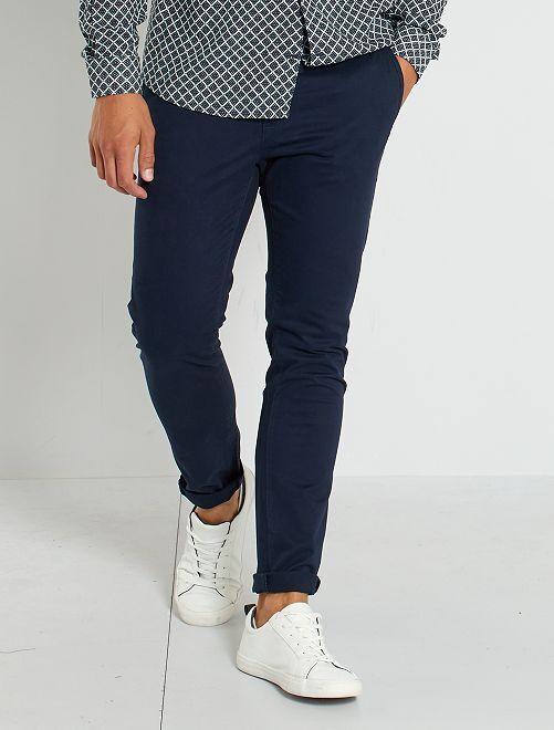 Pantalón chino skinny L30 eco-concepción                                         azul