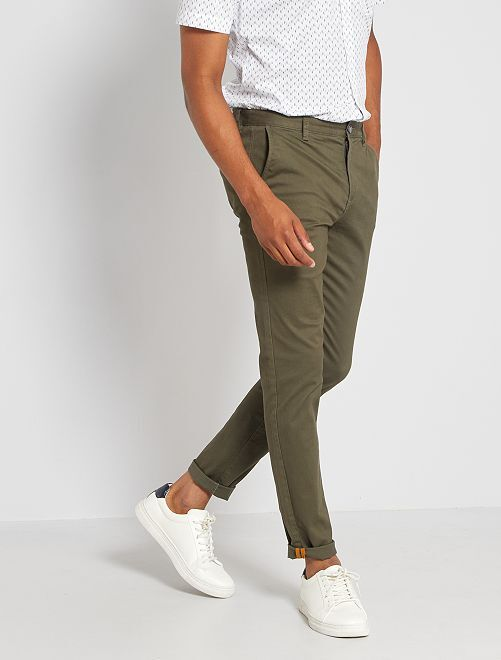 Pantalón chino skinny L30 eco-concepción                                                                                                                                                                                         KAKI