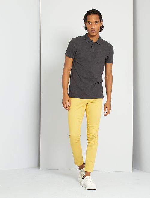 Pantalón chino skinny L30 eco-concepción                                                                                                                                         NARANJA
