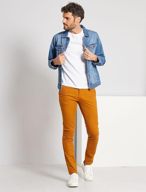 Pantalón chino skinny L34                                                     AMARILLO