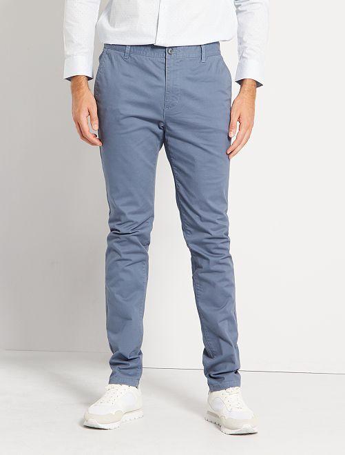 Pantalón chino skinny L38 +1,90 m                                                                 AZUL