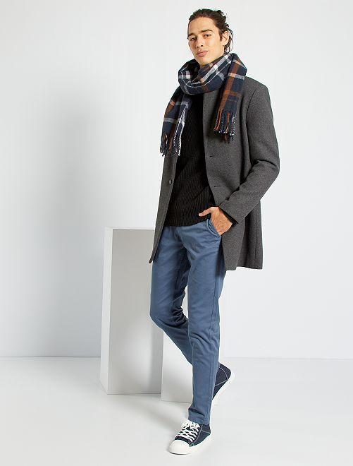 Pantalón chino slim                                                                                                                                                                                                                                                                                                                                                                 AZUL