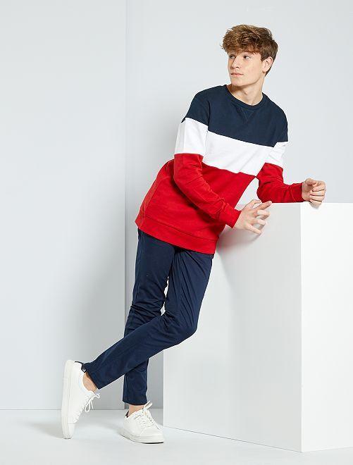 Pantalón chino slim                                                                             azul Joven niño