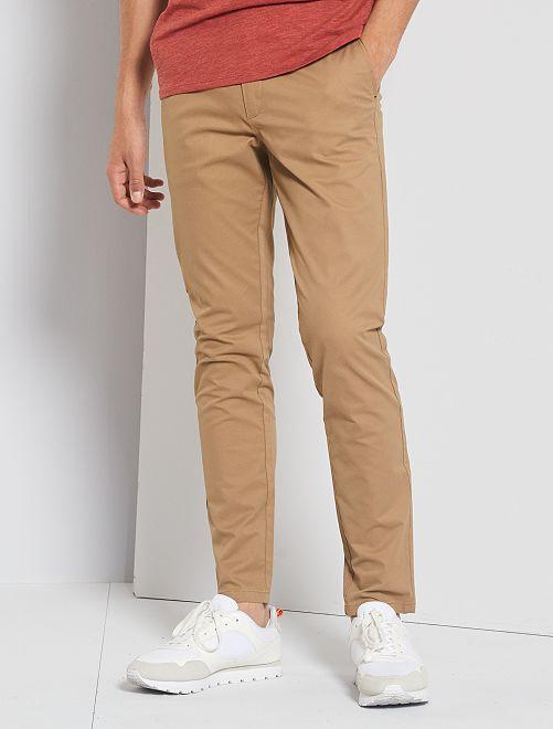 Pantalón chino slim                                                                             BEIGE