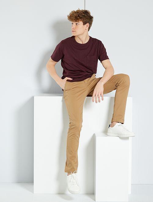 Pantalón chino slim                                                                             BEIGE Joven niño