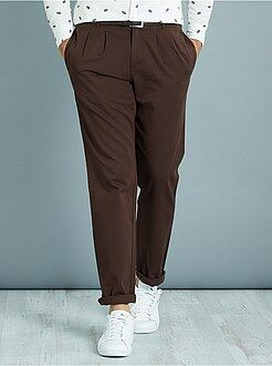 Pantalones slim - Pantalón chino slim con pinzas