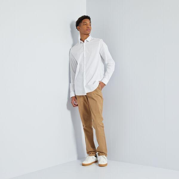 precios increibles bueno mejor valor Pantalón chino slim de algodón puro L36 +1,90 m