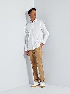 Pantalones - Pantalón chino slim de algodón puro L36 +1,90m - Kiabi