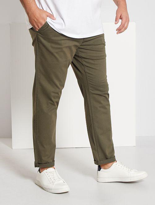 Pantalón chino slim de algodón puro L36 +1,90m                                                                                         KAKI