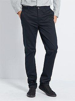 Hombre de mas de 1'90m - Pantalón chino slim de algodón puro L36 +1,90m - Kiabi