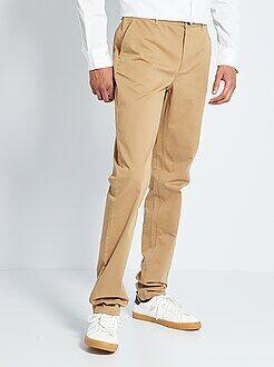 Hombre de mas de 1'90m - Pantalón chino slim de algodón puro L38 +1,90m - Kiabi
