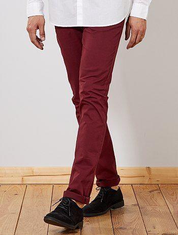 Pantalón chino slim de algodón puro L38 +1,90m - Kiabi
