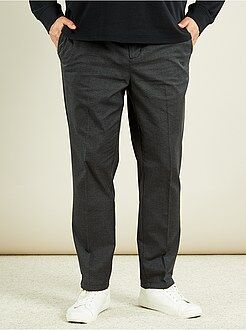 Pantalones city - Pantalón chino slim de chambray