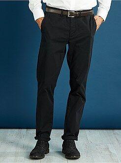 Hombre Pantalón chino slim de sarga elástica