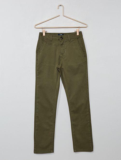 9b775de37 Pantalón chino slim Joven niño - KAKI - Kiabi - 13,00€