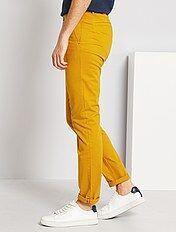 Pantalones Hombre Talla S Xxl Amarillo Kiabi