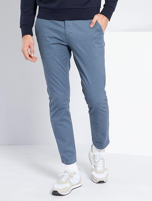Pantalón chino slim L30                                                                                         AZUL