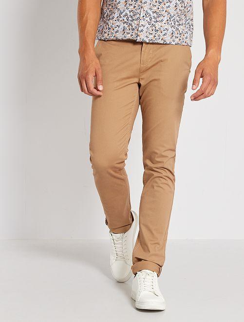 Pantalón chino slim L30                                                                                         BEIGE