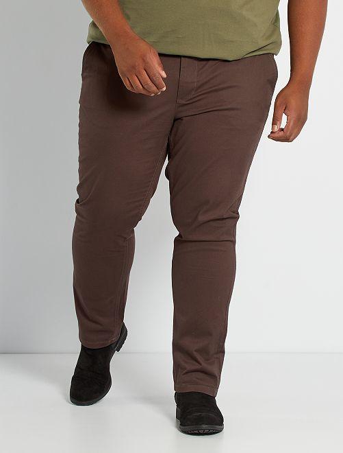 Pantalón chino slim L30                                                                                                                 marrón oscuro