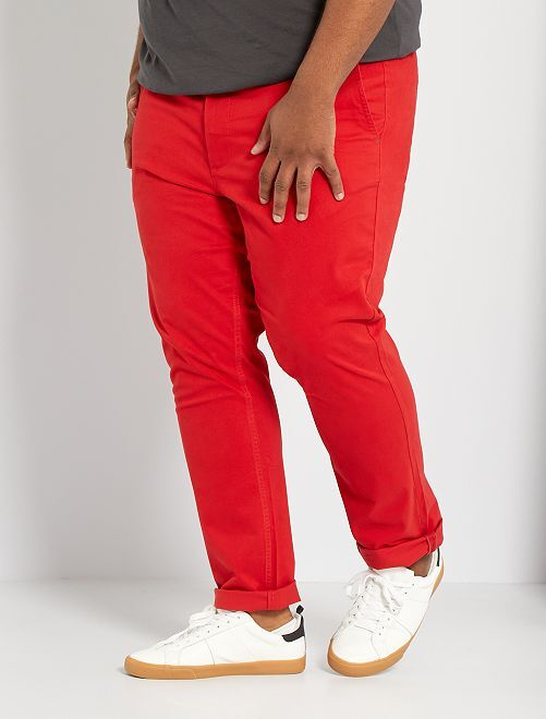 Pantalón chino slim L30                                                                             rojo bombero