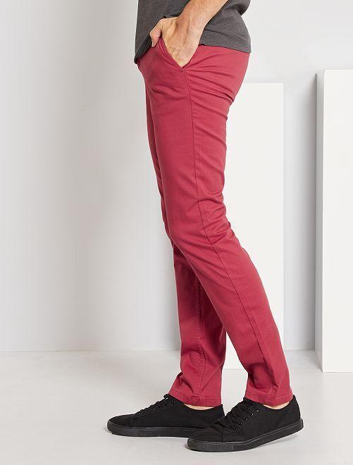Pantalón chino slim L30                                                                                         rojo