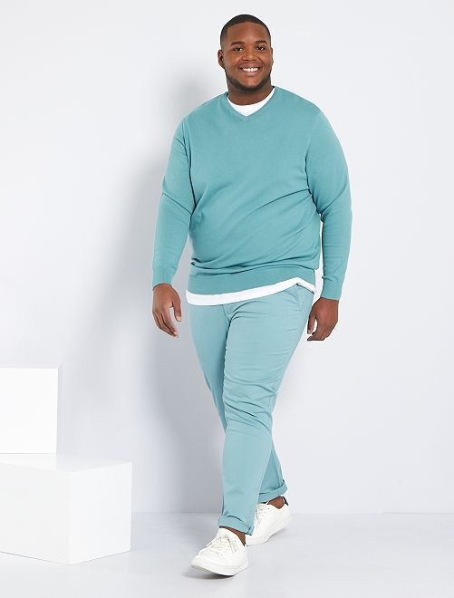 Pantalón chino slim L34                                                                             azul