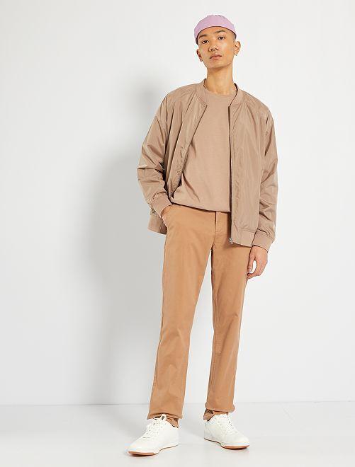 Pantalón chino slim L34                                                                 BEIGE