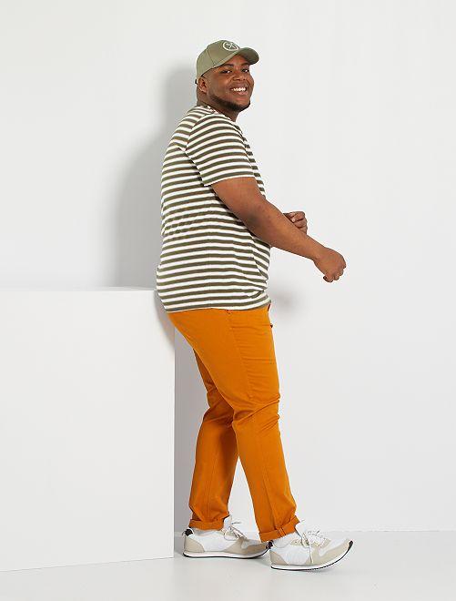 Pantalón chino slim L34                                                                                                                             marrón