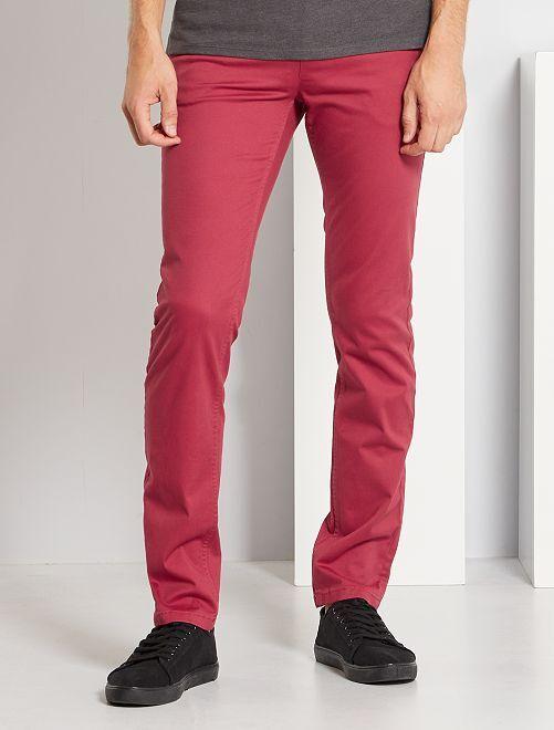 Pantalón chino slim L34                                                                 rojo