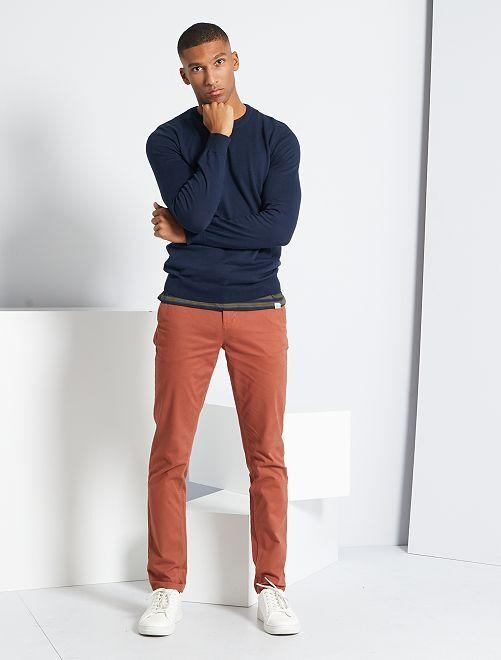 Pantalón chino slim                                                                                                                                                                                                                                                                                                                             MARRON