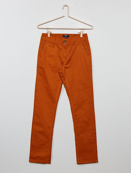 Pantalón chino slim                                                     MARRON