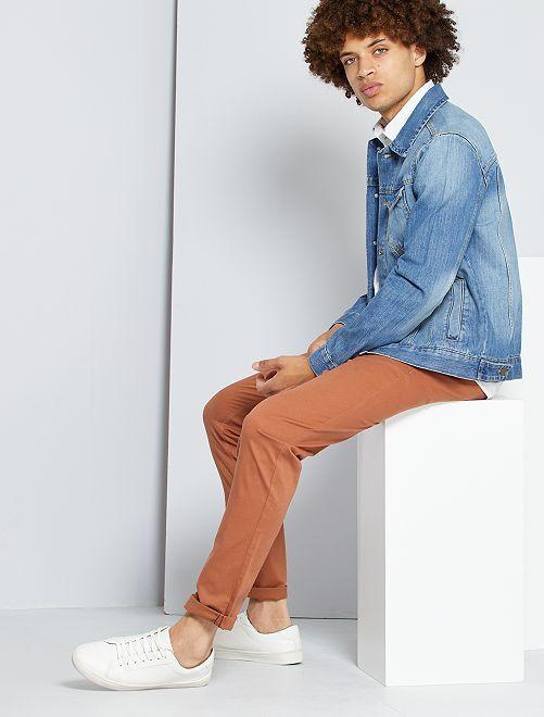 Pantalón chino slim                                                                                                                                                                                                                                                                                                                                                     NARANJA