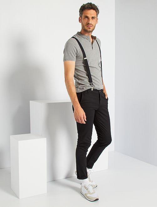 Pantalón chino slim                                         negro