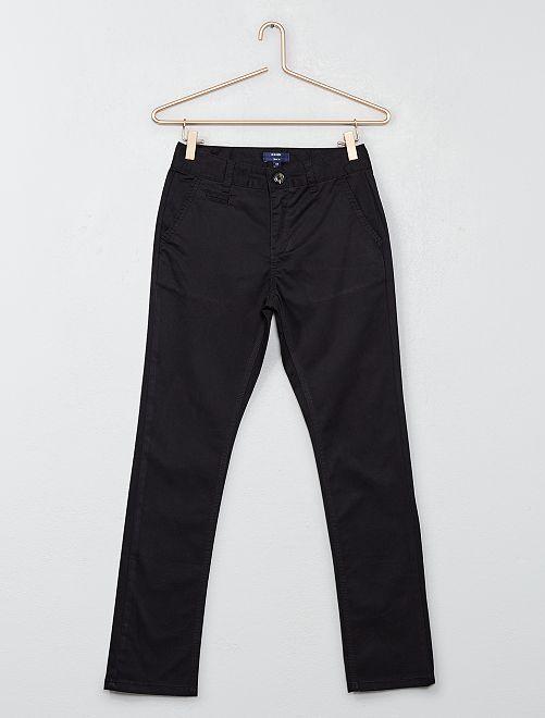 Pantalón chino slim                                                                             negro Joven niño