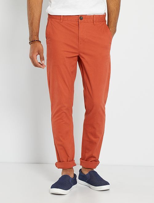 Pantalón chino slim                                                                                                                                                                                                                                                                                                                                                     rojo teja