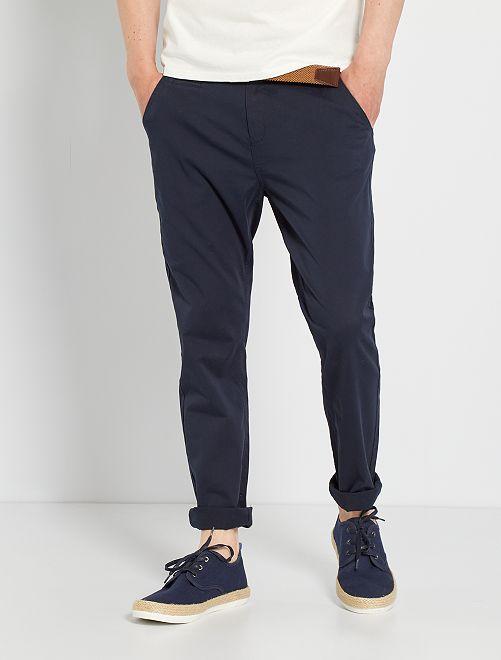 Pantalón chino tapered eco-concepción                                                     azul