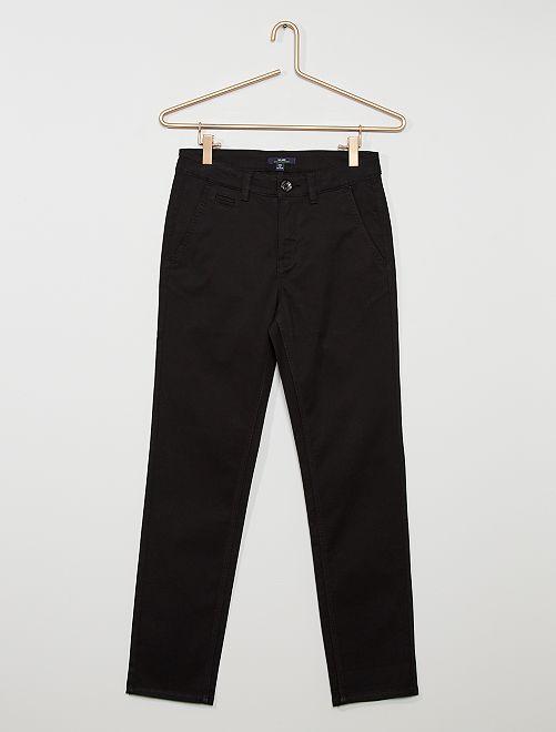 Pantalón chino tapered eco-concepción                                                     negro