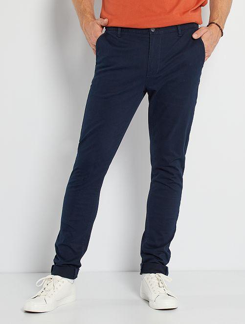 Pantalón chinoo skinny L36 +1,90 m                                                                                         azul