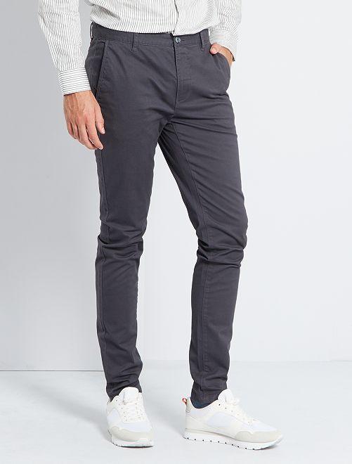Pantalón chinoo skinny L36 +1,90 m                                                         gris oscuro