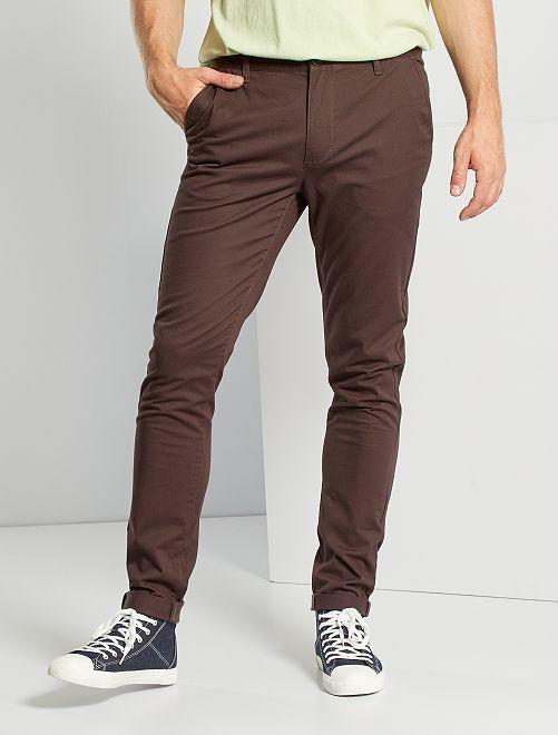 Pantalón chinoo skinny L36 +1,90 m                                                                                         marrón oscuro