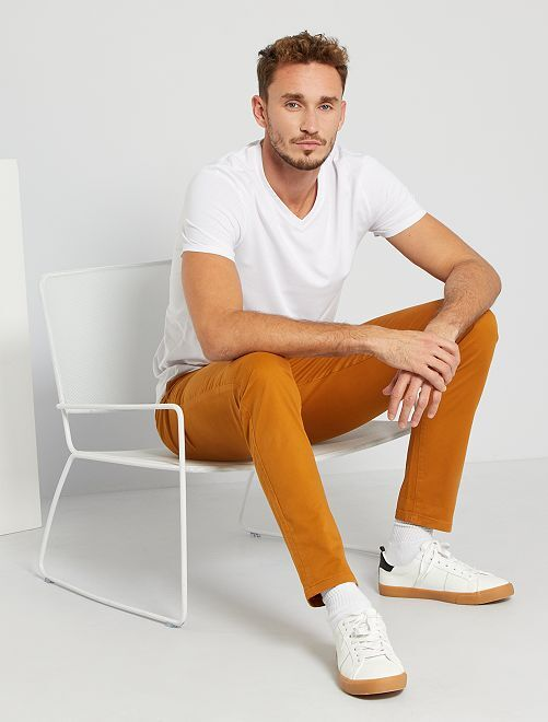 Pantalón chinoo skinny L36 +1,90 m                                                                                         NARANJA