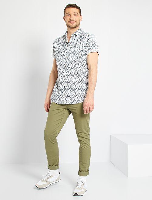 Pantalón chinoo skinny L36 +1,90 m                                                                                         verde liquen