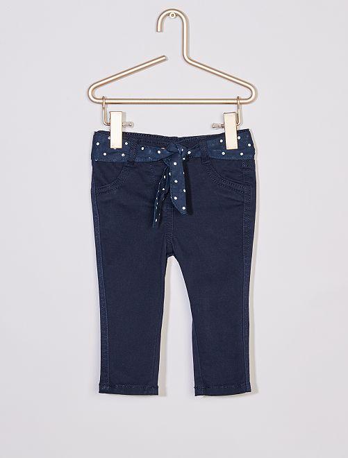 Pantalón + cinturón estampado                                                                 azul lunar