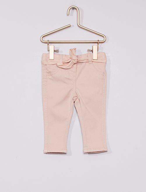 Pantalón + cinturón estampado                                                                 rosa lunar