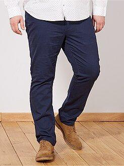 Pantalones casual - Pantalón cómodo de gabardina